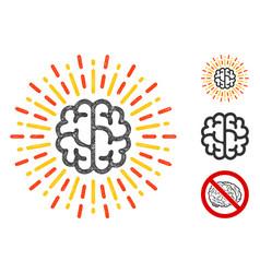 Brain radiance polygonal web mesh vector