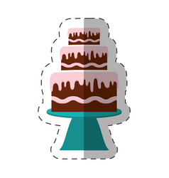 cake dessert bakery shadow vector image