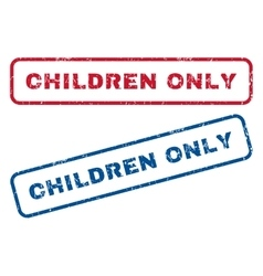Children Only Rubber Stamps vector