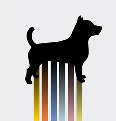 Color dog vector