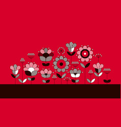 colorful ethnic flowers neck line vector image