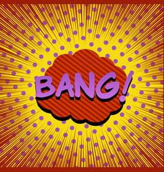 Comic burst colorful template vector