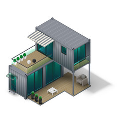 Container house concept vector