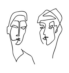 couple woman and man vector image