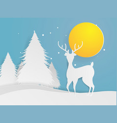 deer standing in forest vector image