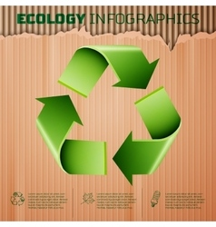 Ecology infographics background vector image