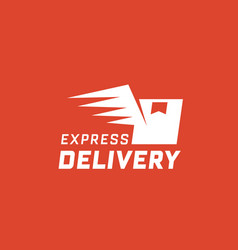 express delivery on red background vector image