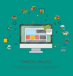 financial analysis banner vector image