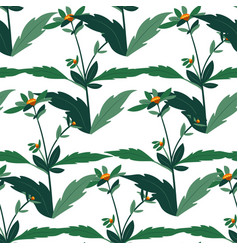 floral botany with leaves and blossom pattern vector image