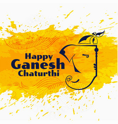 Ganesh chaturthi festival background in vector