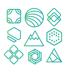 geometric abstract contour shapes with different vector image