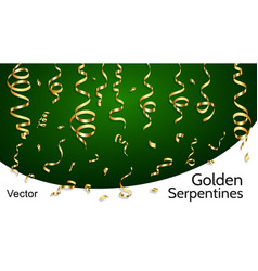 golden serpentines vector image