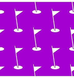 golf flag web icon flat design Seamless pattern vector image