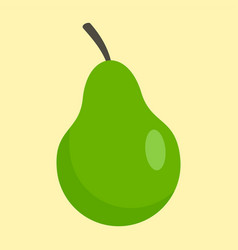 green pear icon flat style vector image