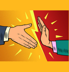 handshake ban hygiene and sanitation vector image