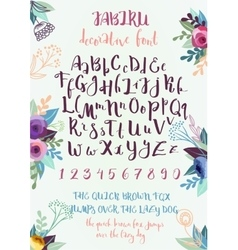 Handwritten decorative alphabet vector