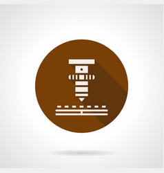 High precision laser brown round icon vector