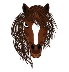 Horse mascot cartoon head vector