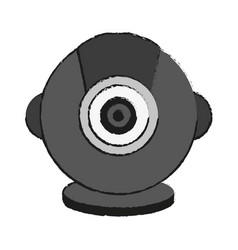 isolated webcam icon image vector image