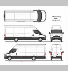 Iveco daily cargo delivery van l4h3 2014-2019 vector