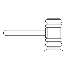 Legislation icon outline style vector