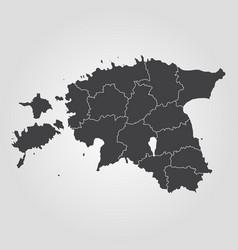 map of estonia vector image