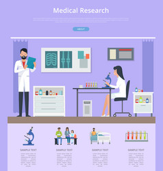 medical research description vector image