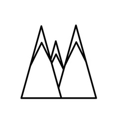Mountains peak nature outline vector