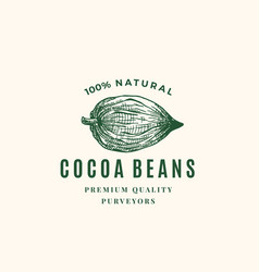 natural cocoa beans abstract sign symbol vector image