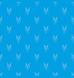 necklace pattern seamless blue vector image