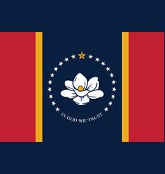 New flag mississippi - state united states vector