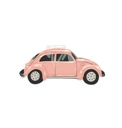 pink female car for your design retro car little vector image