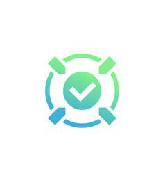 Positive impact action icon vector