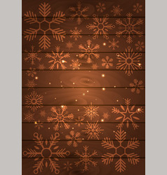 poster merry christmas and happy new year wood vector image