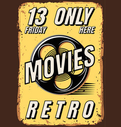 Posters films in retro style vector