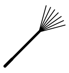 Rake icon simple style vector