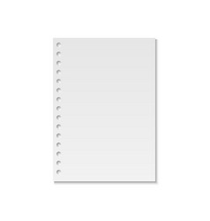 realistic notebook paper page vector image