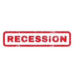 Recession Rubber Stamp vector