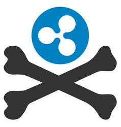 ripple death flat icon vector image