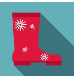 Rubber boot icon flat style vector