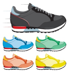 Running shoes vector