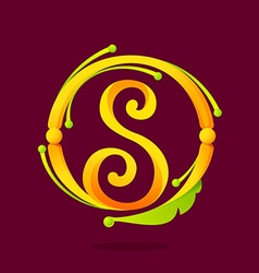 S letter monogram design elements vector