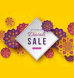 Sale poster or banner for festival of lights vector