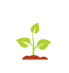 Seedling icon growing tree green agriculture vector