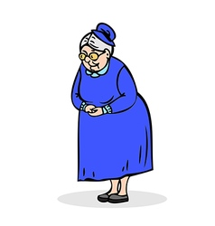 Senior lady with glasses Grandmother standing vector