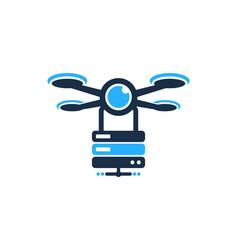 Server drone logo icon design vector