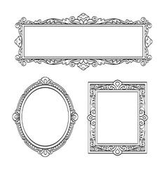 Set of banners Vintage frames vector image