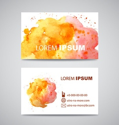 Set of Banners with orange and pink Watercolor vector image