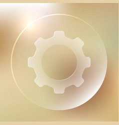 settings glassy icon settings glassy icon vector image