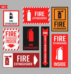 Sign of the fire extinguisher vector